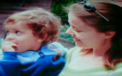 Olga Borisov and son Alon. (YouTube screenshot, Channel 1 TV)
