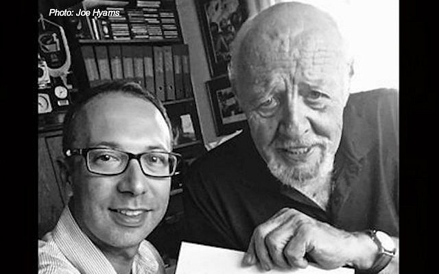 Detail of a selfie with the late David Rubinger (Joe Hyams)