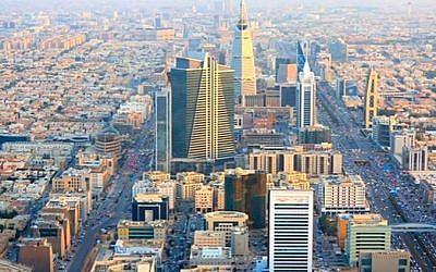Illustrative of the Riyadh skyline in Saudi Arabia. (Screen capture/YouTube)