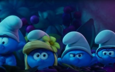 Smurfette (C) in a screenshot from the official trailer for the new movie Smurfs: The Lost Village. (YouTube)
