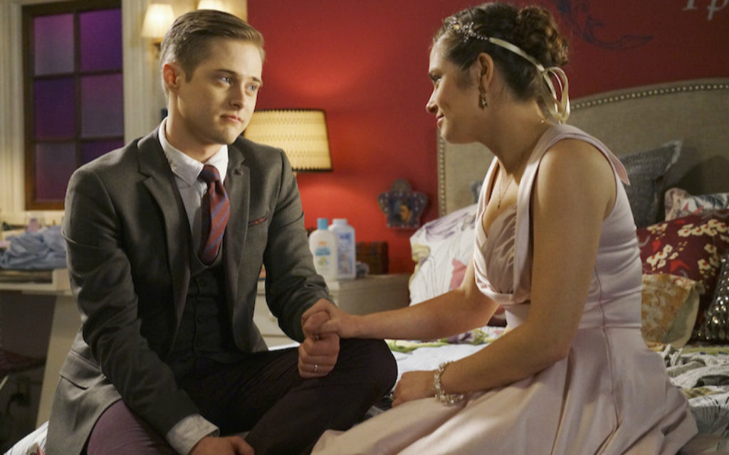 Lucas Grabeel as Toby Kennish and Rachel Shenton as Lily Summers in 'Switched at Birth.' (Adam Taylor/Freeform via Getty Images/via JTA)