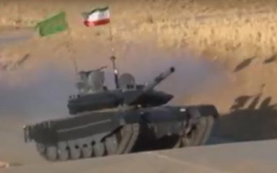 Iran's home-developed Karrar tank. (YouTube screenshot)