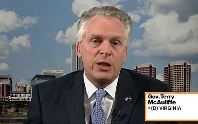 Governor Terry McAuliffe (D) Virginia discusses Nestle's plans to relocate to Virginia on Bloomberg TV on February 2, 2017. (Screen capture/YouTube)