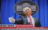 A clown version of US President Donald Trump is seen in a new music video by Snoop Dogg (YouTube screenshot)