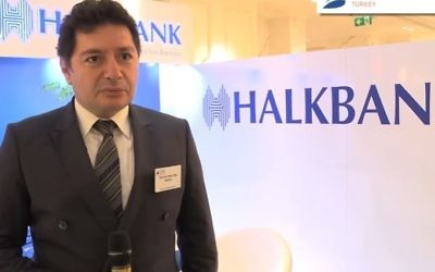 Mehmet Hakan Atilla from Halkbank talks about Bonds, Loans and Sukuk in Turkey in 2015. (Screen capture: YouTube)