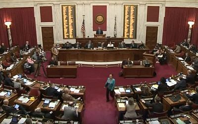 The Virginia House of Delegates on March 4, 2016. (Screen capture/YouTube)