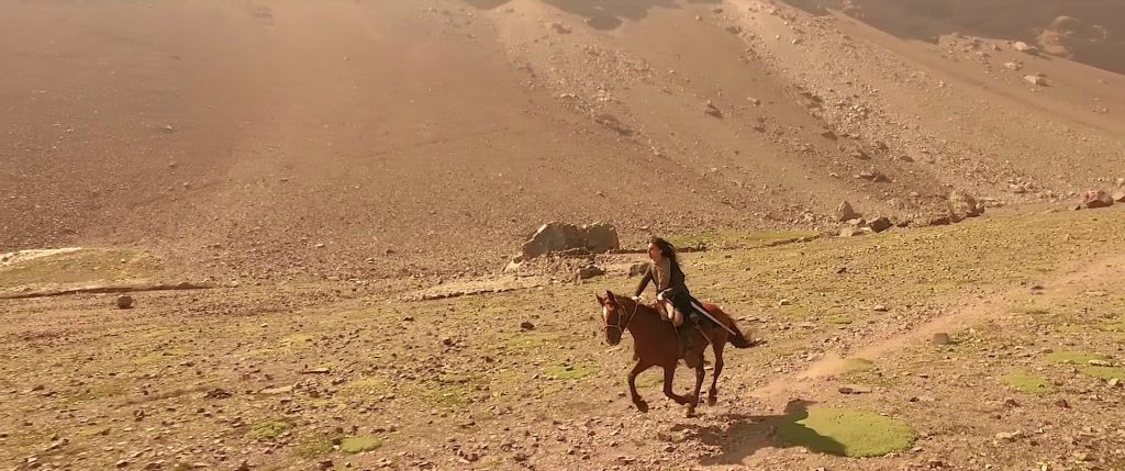 Yael Meyer shot her music video 'The Hunt' in the Andes Mountains in Chile. (YouTube)
