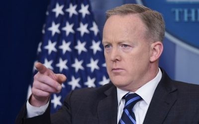 White House Press Secretary Sean Spicer speaks in the Brady Briefing Room of the White House on April 10, 2017 in Washington, DC. (AFP/ Mandel Ngan)