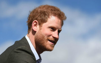 This file photo taken on March 21, 2017 shows Britain's Prince Harry after a meeting with representatives of the Yes You Can personal development project at Hamilton Community College in Leicester, England, on March 21, 2017. (Joe Giddens/Pool/AFP)