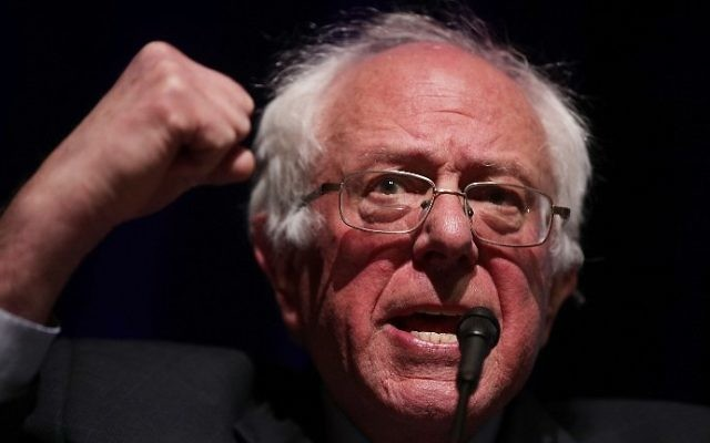 "US Sen. Bernie Sanders (I-VT) addresses the ""Rise Up: From Protest to Power"" convention on April 24, 2017 in Washington, DC. (Alex Wong/Getty Images/AFP)"