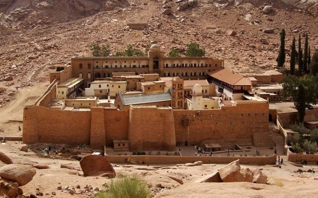 Saint Catherine's Monastery in southern Sinai, in Egypt. (CC, BY-SA, Berthold Werner/Wikimedia)