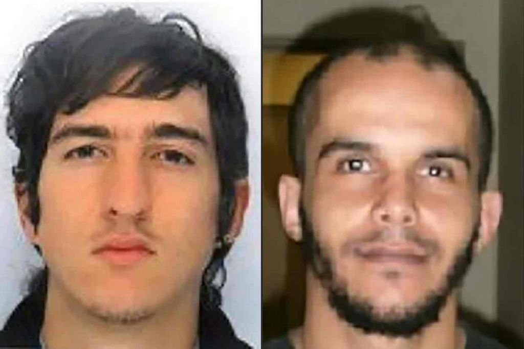 Clement B and Mahiedine M, arrested in Marseille for an alleged terror plot, April 18, 2017. (Police handout/AFP)