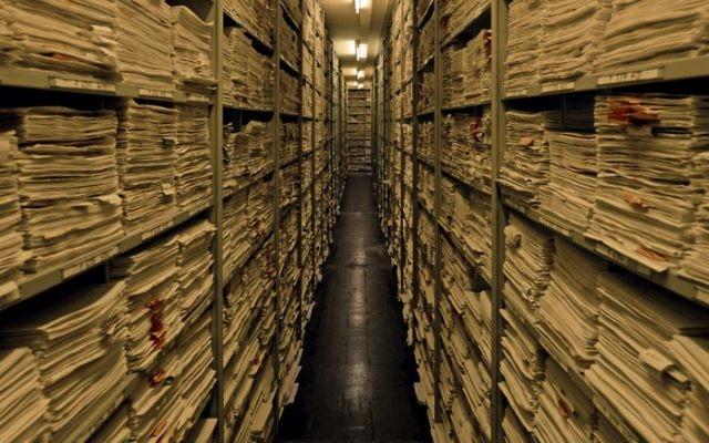 Inside ITS in Bad Arolsen, Germany. (Richard Ehrlich/USHMM)