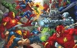 An image of the Marvel Comics superheroes by Marcello Silk Screen artist. (Flikr/Public Domain)
