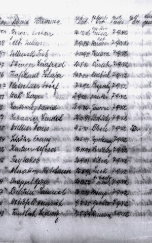 The Majdanek crematoria list that confirmed the location and date of Moshe Bar-Yuda's father Alfred Kastner's murder (Courtesy ITS via Yad Vashem)