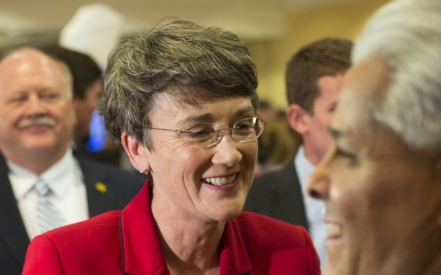 Former US Rep. Heather Wilson in Albuquerque, New Mexico, on November 6, 2012. (AP Photo/Jake Schoellkopf, File)