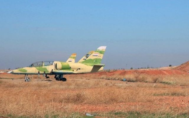 Illustrative: Syrian warplanes in the Kweiras air base, east of Aleppo, Syria in 2015.  (SANA via AP)