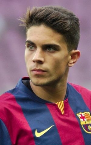 Marc Bartra playing for Barcelona in 2014. (Clément Bucco-Lechat/Wikipedia CC BY-SA 3.0)