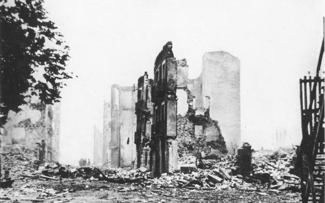The aftermath of the 1937 bombing of Guernica, a Basque Country village in northern Spain. (CC BY-SA Wikimedia commons)