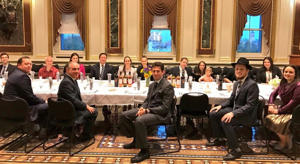 Members Of US President Donald Trumpu0027s Staff Participate In A Passover  Seder In The Indian Treaty