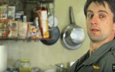 Scene with Robert De Niro in 'Taxi Driver' from YidLife Crisis' 'Hollywood's Greatest Movie Moments (In Yiddish)' video (YouTube)
