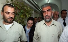 Kamal Khatib from the Islamic movement is brought to arraignment at the municipal court in Jerusalem on October 4, 2009. (Matanya Tausig/Flash90)