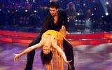 Yaniv Kakun and Liat Blau on the television show 'Dancing with the Stars.' (Abir Sultan/Flash90)