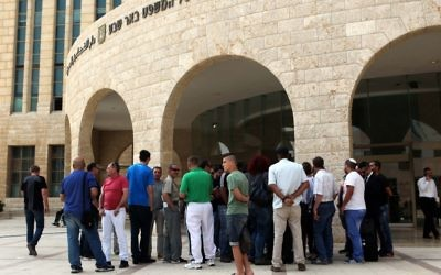 The Beersheba District Court on May 13, 2015 (Flash90)