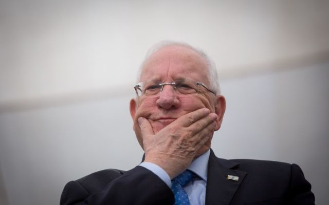 President Reuven Rivlin, Jerusalem, April 4, 2017. (Miriam Alster/Flash90)