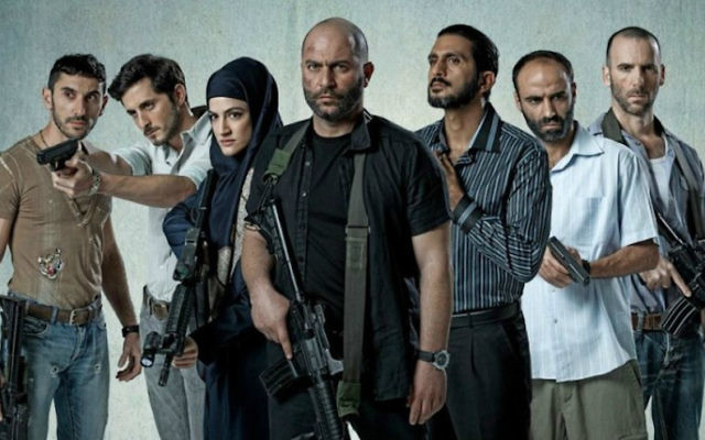 The cast of Israeli drama series 'Fauda' (Ohad Romano via JTA)