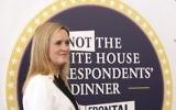 """Samantha Bee arrives for """"Full Frontal with Samantha Bee's Not the White House Correspondents' Dinner"""" at DAR Constitution Hall, April, 29, 2017, in Washington. (Brent N. Clarke/Invision/AP)"""