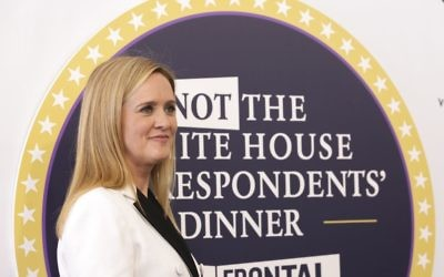 "Samantha Bee arrives for ""Full Frontal with Samantha Bee's Not the White House Correspondents' Dinner"" at DAR Constitution Hall, April, 29, 2017, in Washington. (Brent N. Clarke/Invision/AP)"