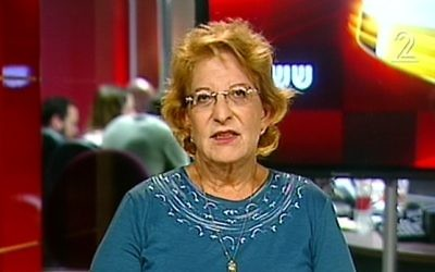 Batya Shefi Gottlieb, who won NIS 16,500 in damages from Science Minister Ofir Akunis (Screen capture: Channel 2)