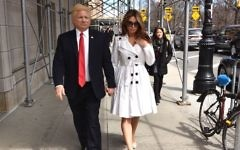 Mira Tzur works as a Melania Trump impersonator alongside John Di Domenico. (Courtesy of Mira Tzur)
