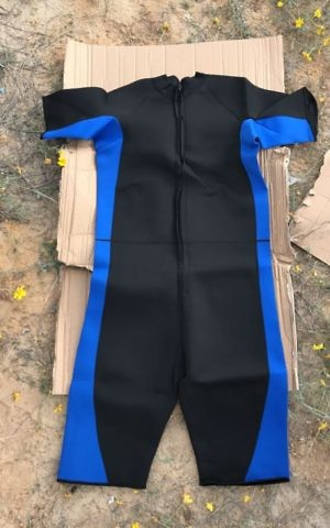A wet suit that was found hidden in a shipment of sporting gear, bound for the Gaza Strip on April 3, 2017. (Defense Ministry)