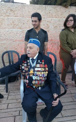 Max Privler at the dress rehearsal for Yad Vashem's Holocaust Remembrance ceremony. (Yaakov Schwartz/ Times of Israel)