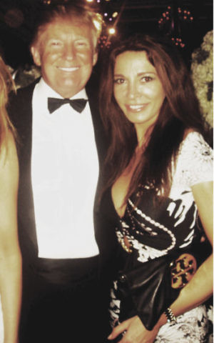 Mira Tzur met Donald and Melania Trump at a New Year's Eve party in 2011. (Courtesy of Tzur)