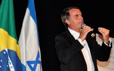 Conservative politician Jair Bolsonaro is a deeply divisive figure in Brazil's Jewish circles. (Udo Kurt via JTA)