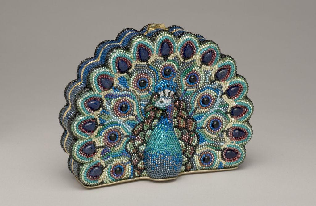 A peacock handbag by Judith Leiber. (Courtesy)