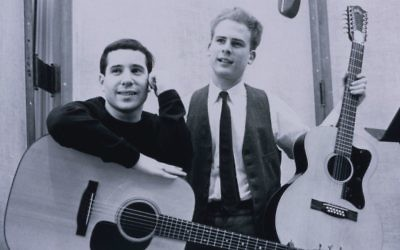 Paul Simon, left, with partner Art Garfunkel in 1964. (Don Hunstein)