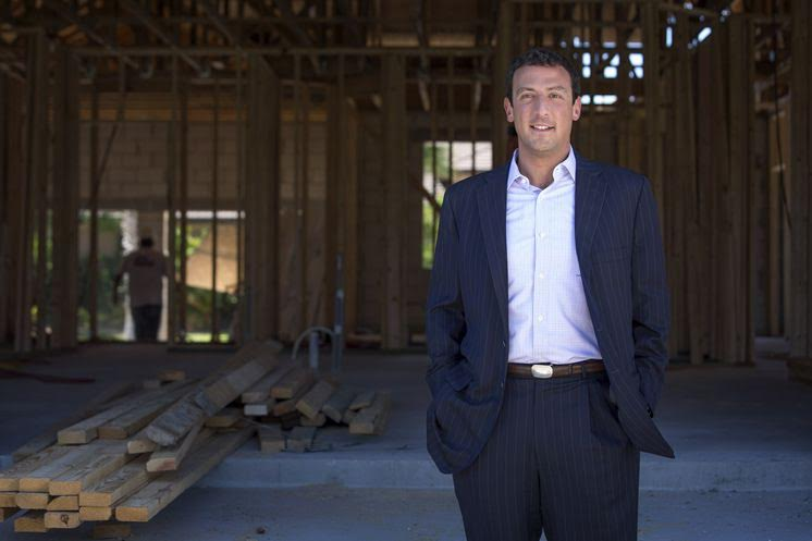 Isaac Lidsky in a home being constructed by his business. (Courtesy)