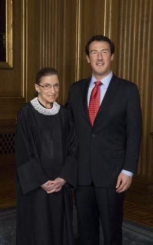 Isaac Lidsky with Ruth Bader Ginsburg. (Courtesy)