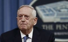 In this April 11, 2017 file photo, US Defense Secretary James Mattis attends a news conference at the Pentagon. (AP Photo/Carolyn Kaster, File)