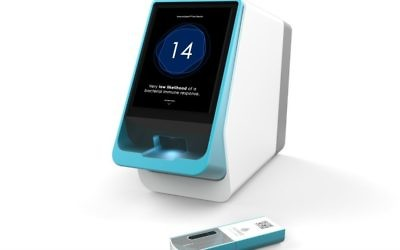 MeMed's analyzer, a  bedside testing device to find out quickly whether an infection is viral or bacterial (Courtesy)