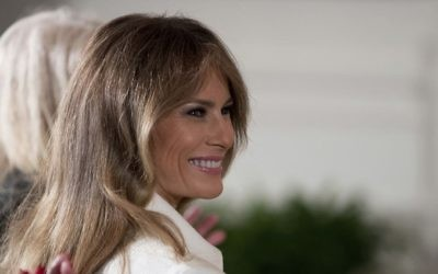 US first lady Melania Trump during a speech by President Donald Trump in the East Room of the White House in Washington, March 29, 2017. (AP Photo/Andrew Harnik, File)