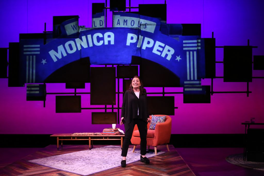 Monica Piper performing her one-woman show 'Not That Jewish.' (Courtesy)