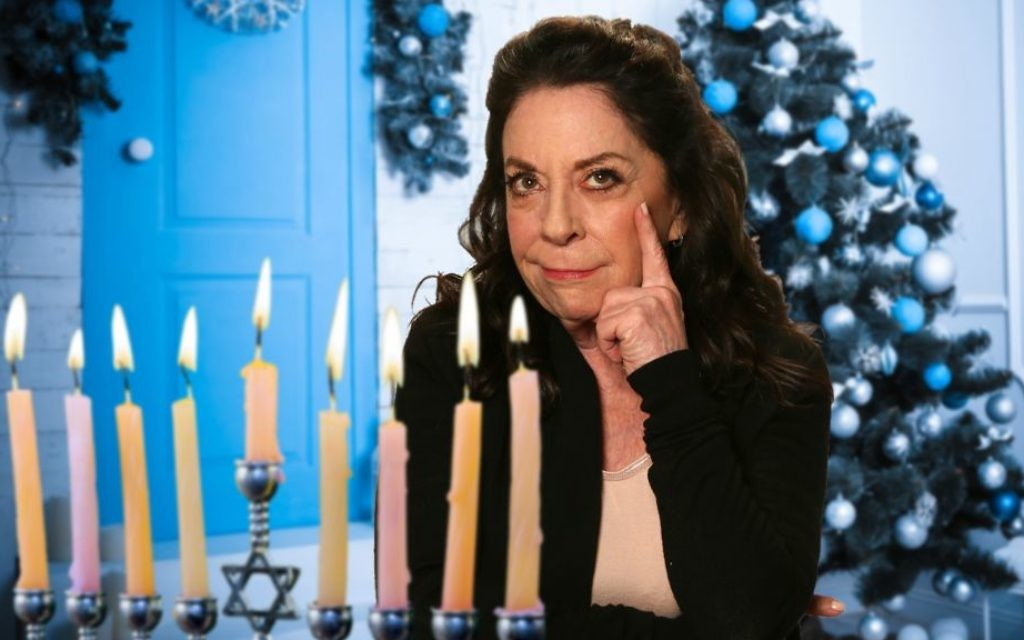 Monica Piper celebrates Hanukkah. (Courtesy)
