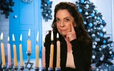 Monica Piper celebrates Hanukkah. (Courtesy)
