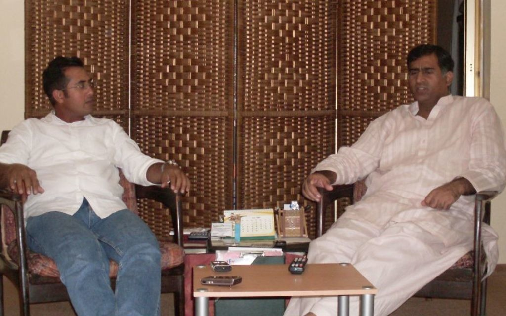 Pakistani citizens Fischel (Faisal) Benkhald and older brother Mohammad Iqbal at a rare in-person meeting in Jeddah, August 2012. (courtesy)
