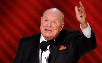 "Don Rickles is honored for best individual performance in a variety or music program for ""Mr. Warmth: The Don Rickles Project,"" at the 60th Primetime Emmy Awards in Los Angeles, Sept. 21, 2008. (AP Photo/Mark J. Terrill)"